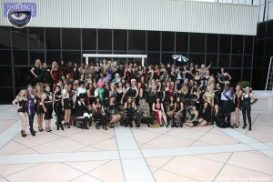 Sharing a laugh with a few hundred of my favourite Dommes!  Can you spot me?